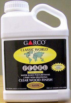 Garco Waterborne Polyurethane Clear Finish 1gallon