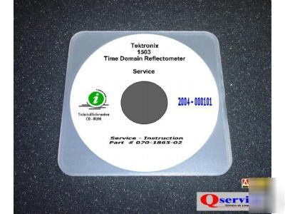 Tektronix 1503 tdr service manual + more