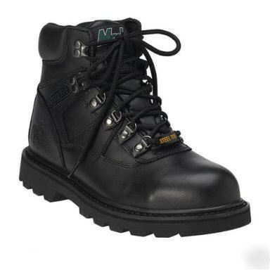 New mack safety steel toe work boots~shoes~black~sz 10