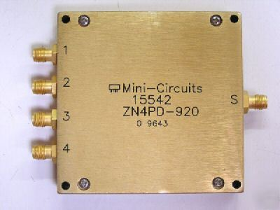 Mini-circuits ZN4PD-920 800-920 mhz 4-way splitter/comb