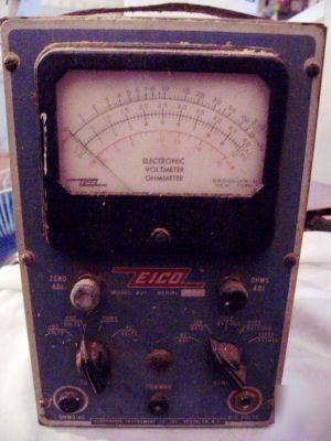 Vintage eico 221 ac/dc electronic voltmeter ohmmeter