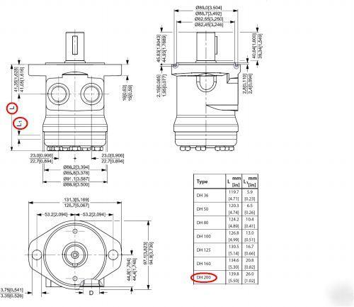 Sauer Danfoss Hydraulic Motor Dh200 151 2086