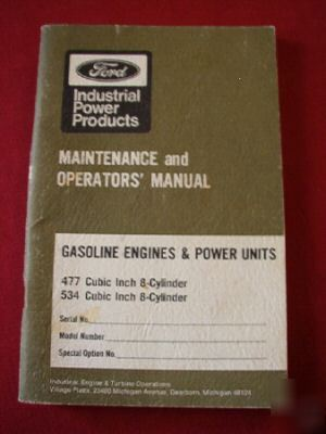Ford manuals for 477 / 534 gas engines & power units